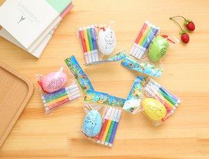 DIY Easter Egg Children's Cartoon Cute Painted Handmade Egg Shells Toddler Handmade Educational Toy Gift