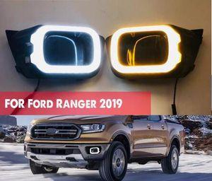 2PCS LED Daytime Running Light Per per Ford Ranger T8 2019 2020 ingialliscono segnale relè impermeabile 12V DRL lampada LED