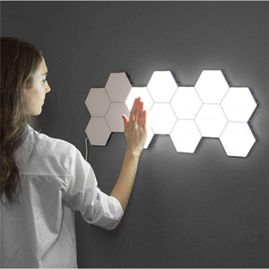 Fashioni House Sensitive Wall Lamp Splicing Induction LED Lighting Lamps Home Hotel Touch Lights Hexagonal Quantum