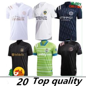 Tailândia 2020 Miami Beckham 23 Black LAFC Carlos Vela 10 de Futebol 2021 Los Angeles FC LA Galaxy Chicharito 14 camisas de futebol
