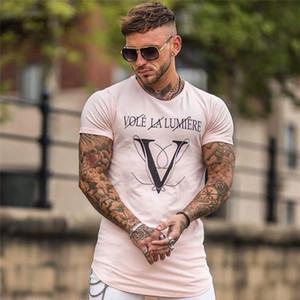 New Gymnases Fitne Ingénieurs Conception Homme Novelty hommes lettre impression T-shirt de mode T-shirt manches courtes hommes Casual T-shirt Homme
