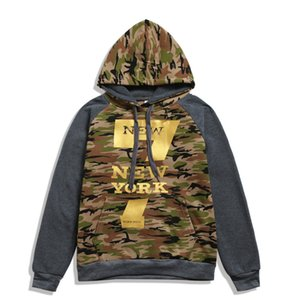 Camouflage Mens Designer Hoodies Frühling Herbst Langarm Kapuze Herren Sweatshirts beiläufige beschriften das gedruckte Herren Kleidung