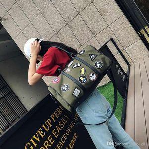Pop2019 Rosa Sugao Coreano Oxford Patch Bag Bag Designer de Bolsas de Ombro À Prova D 'Água Duffle Bag Bagagem Sacos de Viagem