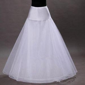 Sıcak Satış Üç Katmanlar Hoop-az Beyaz Gelin Petticoats Bir Çizgi Düğün Balo Abiye Kayma Petticoat Ücretsiz Kargo Düğün Gelin Erişim