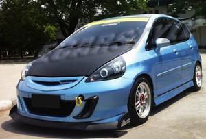 Спойлер из углеродного волокна для Honda Fit Jazz GD3 Sport Front Bumper Air Scoopoop Spoiler