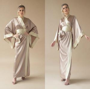 Bathrobes satin de satin 2020 pour femmes V tank Colde Courroie A Ligne Vêtements de nuit Nuit Robe Robe Bathrobes Mariage Mariage Robes Robe De Robe Pyjamas