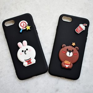 New bear silicon film, Japanese and Korean cartoon mobile phone case, hand DIY accessories, creative cartoon fashion Case accessories patch