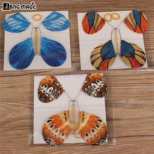 Uma borboleta que pode voar de aço quadro Props Magic brinquedos truque Três borboleta cor JBNG MAGIC