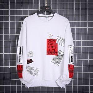 OLOME Hip Hop con cappuccio degli uomini di marca di modo Outwear 2020 nuovo Mens di disegno Streetwear Felpe Felpe Harajuku Top White Felpa