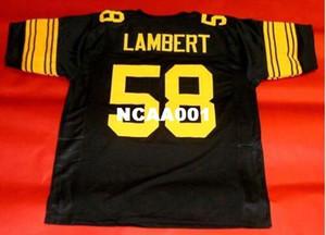 Erkekler ÖZEL # 58 JACK LAMBERT Retro Kolej Forması boyutu s-4XL veya özel herhangi bir isim veya numara jersey