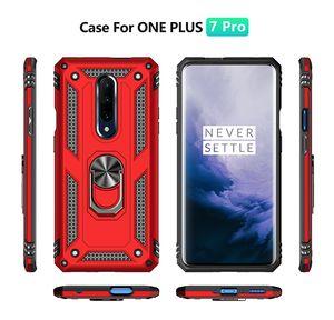 Armadura del coche Kickstand Cajas del teléfono celular para One Plus 7 Pro cubierta a prueba de golpes para LG G7 Plus k40 stylo 5 aristo 2/3