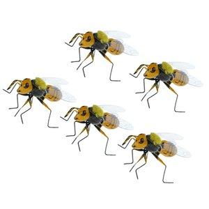 5x пастбища реалистичные пчелы насекомое орнамент Магнит холодильника яркая глиняная статуэтка модель статуи DIY микро пейзаж газон скульптура летний декор