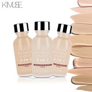 KIMUSE Face Foundation Крем-основа для макияжа Профессиональная матовая отделка для макияжа Жидкий корректор Водонепроницаемый бренд Натуральная косметика