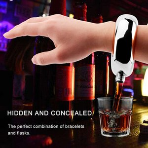 Браслет Hip Flask 3.5oz Кувшин из нержавеющей стали Браслет Браслет Бутылка вина Нержавеющая сталь Вино Браслет Подарок ювелирных изделий может costom logo