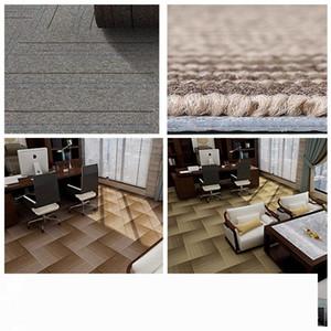 19.7 * 19.7inch Grande giuntabili Carpet Piazza addensare PVC Home Office fai da te Carpet Ingegneria Commercial Hotel Corporate Carpet DH1186-11 T03