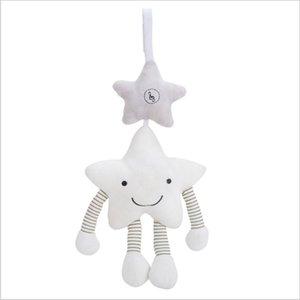 Baby toy pentagon star music wind bell hanger spot sound car hanging bed bell companion doll