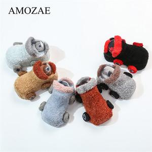 Moda Suave Coral Fleece Calcetines para bebés Patrón de coche lindo Bebé Niñas niños Calcetines Recién nacido Medias cómodas Tamaño S (0-12M) M (13-24M)