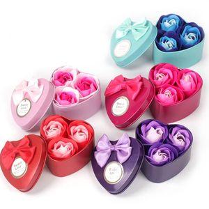 Новая партия благосклонности 150pcs = 50box Роза Мыло Цветок Подарочная коробка Валентина День подарков Свадебные подарки для гостей подарок для Girlfriend Дети День рождения