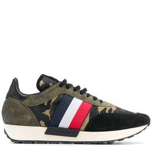 Moncler 2020 zapatos de cuero deportivos europeos estación de lujo para los hombres casuales zapatos de moda versátil yh08 tela de estiramiento de los hombres respirables