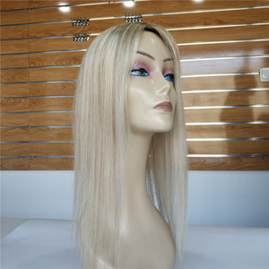 Envío gratis resaltado # 10/60 Color Seda Base humana Toppers de pelo humano para mujeres Mujeres Toupeefor Pérdida del cabello