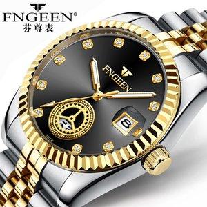Caldo vendendo tutti orologio d'oro, vecchio orologio al quarzo uomo, l'uomo del padre di mezza età e anziani atmosferica luminosa elettronica impermeabile