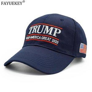 WholesalNew presidente Donald Trump Hat 2020 USA Flag Berretto da baseball Keep America Grande Snapback Hats papà KAG Trucker Caps Gorras