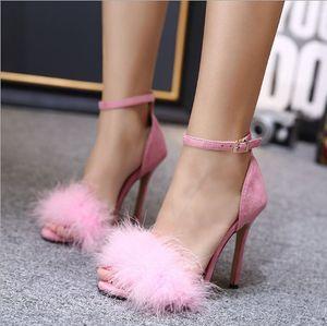 Sıcak Satış-Yeni moda bayanlar yüksek topuklu seksi kadın ayakkabıları pembe elbise elbise kadın bahar ve yaz sonbahar kadın ayakkabıları ince kesit
