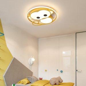 Monkey cartoon LED chandelier For Children's room kids room light led techo Pink Blue modern chandelier lighting AC110V-220V