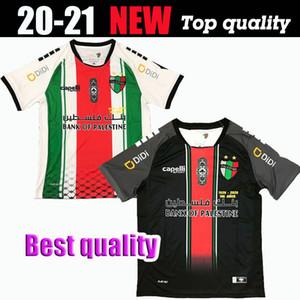 Top Qualität 2020-2021 Palästina Fußball Jersey Home Black White benutzerdefinierte Name Number Palästina Fußball Shirt Kostenloser Versand