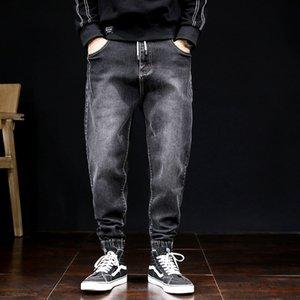 High Street Fashion Men Jogger Jeans Black Color Size 28-42 Top Quality Loose Fit Cargo Pants Harem Trousers Hip Hop Jeans Men
