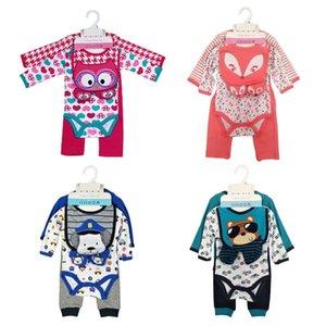 Terno infantil dos desenhos animados do bebê 13 cores listrado Dinosaur Romper Crianças roupa ocasional Boy Impresso Tops da criança Meninas Onesies Meninos Outfits 060222
