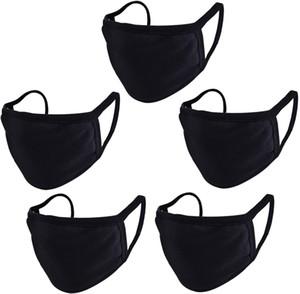 Siyah Pamuk Unisex Yüz Çocuklar Gençler Erkekler Kadınlar İçin Binme Bisiklet kamp Travel'ın Yeniden kullanılabilir Rahat Maske