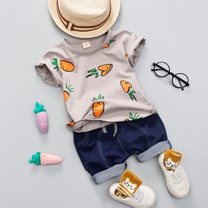 Kid Boy Girl Sommerkleidung Set 1-4 Jahre Baby Casual Cute Radish Print Shirt Kleidung Cute Cartoon Schultasche Jungen Anzug