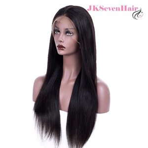 Peruvian Full Lace Wigs 200% Density 10A Brazilian Remy Virgin Human Hair Silky Straight Full Lace Wigs for Black Women