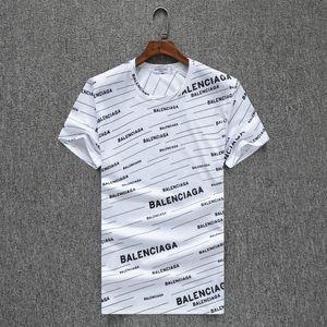 Designer de luxe T-shirt été Nouveau Motif Temps De Loisir Hommes À moitié Rendu Coton Pull T Pity Facebook À Manches Courtes Will Code