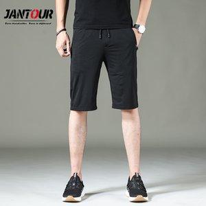 Jantour New Shorts Hommes D'été mince Respirant Shorts Casual Élastiques Boardshorts Solide Court Hommes De Mode Mesh tissu Wear