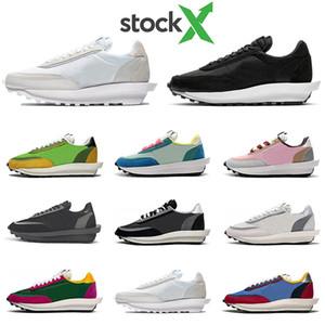 STOCK X 2020 nike sacai blazer ldv ld waffle daybreak Mens için koşu ayakkabıları kadın ayakkabı eğitmenler Beyaz SIYAH Naylon Üçlü s moda Tasarımcısı Sneakers