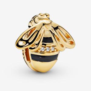 Fit Pandora Bracelet Charm Bee Clip Auténtico plata de ley 925 Colgante Charms Beads European Charms DIY Style Jewelry