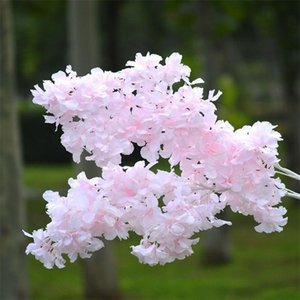 "Fake Long Stem Cherry Blossoms 39.37"" Length Simulation Snow Drifting Cherry for Wedding Home Decorative Artificial Flowers"
