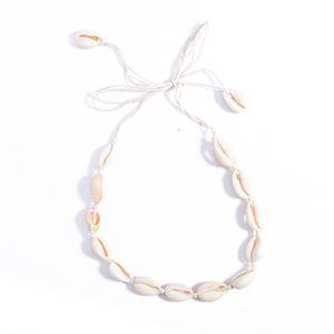 Colar Tassel Bohemian Praia Mar Natural Shell Gargantilha Colar Cadeia Collar Boho Mulheres Summer Beach Jewelry