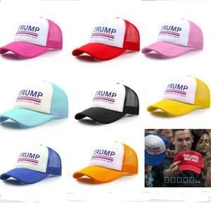 Trump Unisex malla Cap Gorra Keep America 2020 Gran sombrero de la manera Donald Trump bola de béisbol Playa Cap verano bola Gorra para el sol caliente B52002