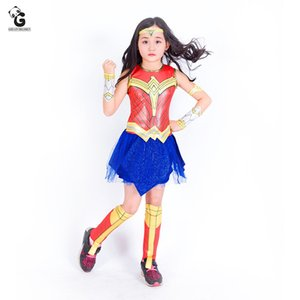 Wonder woman kostüme kinder kleider für mädchen fancy party dress spiderman cosplay halloween kostüme für kinder abendessen hero kostüm y19061801