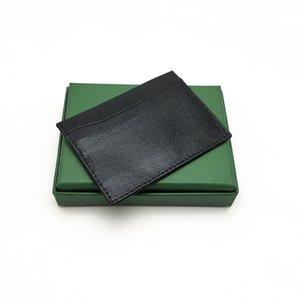 Haute qualité Hommes Femmes Porte-carte de crédit classique Mini Bank Card Holder Petit Slim Wallet Wtih Box