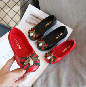РЕБЁНОК кожаные ботинки Дети Дети Мода девушки платье принцессы Обувь конфеты смычка цвета партии Танцевальная обувь