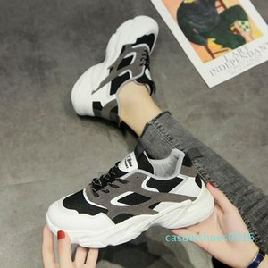 New Women's Designer casual shoes Breathable fashion outdoor indoor universal Thick bottom White black ash casual Sneakers c16