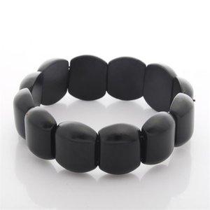 2017 de haute qualité Bianshi Noir Bian Bracelet pierre naturelle Carve Noir Bracelet Byanshi Pour MenWomen Bijoux