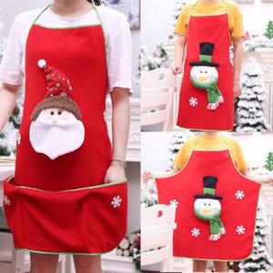 Lustiges Weihnachten, das Schutzblech-Party-Abendessen kocht Schürzen Weihnachtsmann-Schneemann-Weihnachtsdekoration-Weihnachtsküchen-Werkzeug-Zusätze