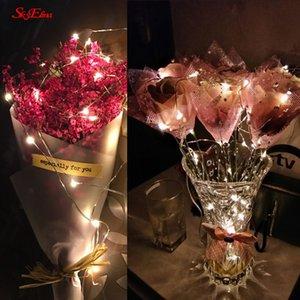 5M / 50LED Kupferdraht Mini-Lampe wasserdichte Feiertagsbeleuchtung für Fee Weihnachtsbaum-Hochzeitsfest-Dekoration Lampe 6zMM258