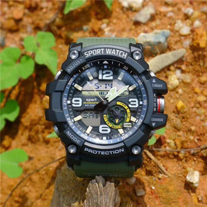 2019 New Men Climbing Sports Digital Wristwatches Big Dial Military Army Watches G Alarm Shock Resistant Waterproof Watch 7591