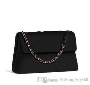 Klassische Modedesigner Frauen-Handtaschen-Geldbeutel-Qualitäts-Kette Umhängetasche Umhängetasche echtes Leder-Kurier Schwarz Tragetasche
